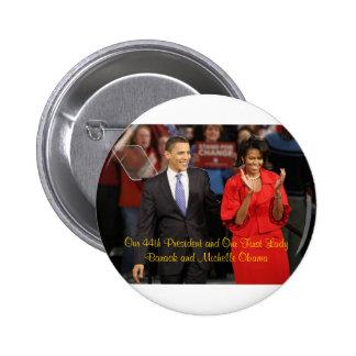 Notre quarante-quatrième président et notre premiè macaron rond 5 cm
