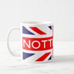 Nottingham : British Flag Classic White Coffee Mug