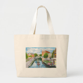 Nottingham Canal from Carrington Street Large Tote Bag