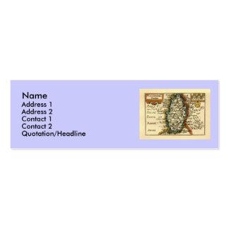 Nottinghamshire County Map, England Mini Business Card