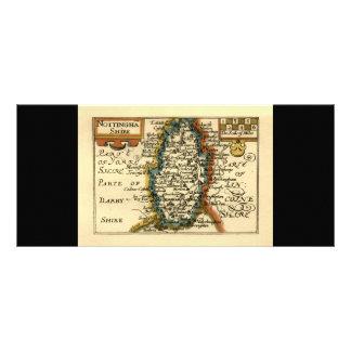 Nottinghamshire County Map, England Customized Rack Card