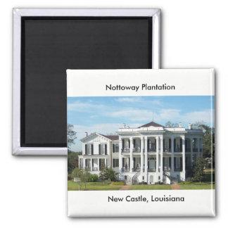 Nottoway Plantation Square Magnet