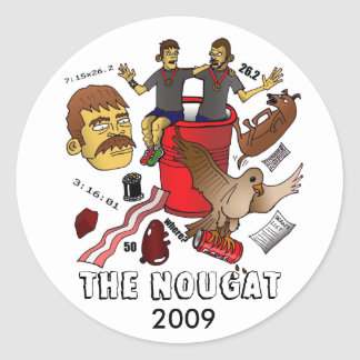 nougat12 copy, THE NOUGAT, 2009 Classic Round Sticker