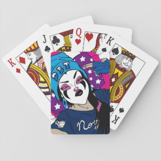 Nougat The Clown Girl Selfie Poker Deck