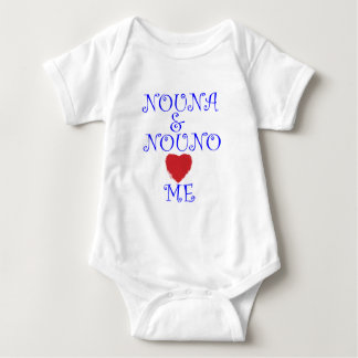 NOUNA AND NOUNO LOVE ME BABY BODYSUIT