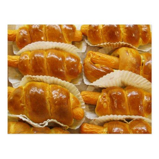 Nourriture asiatique de dessert de gâteau de hot-d carte postale