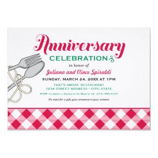 Nourriture italienne de l'invitation   carton d'invitation  12,7 cm x 17,78 cm