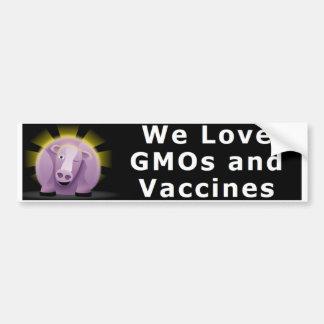Nous aimons les OGM et l'adhésif pour pare-chocs Autocollant De Voiture