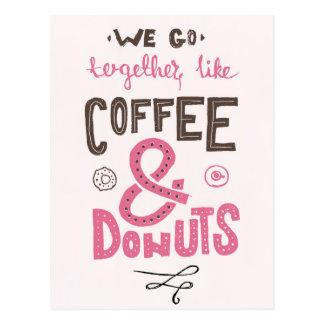 Nous allons ensemble comme le café et des butées cartes postales
