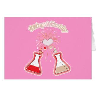 Nous avons la chimie carte de vœux