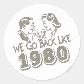 Nous retournons comme 1980-Sticker's Adhésifs Ronds