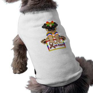 Nous sommes tous carlin de gay pride d'égal vêtements pour animaux domestiques