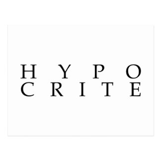 Nous sommes tous les hypocrites carte postale