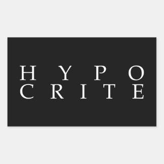 Nous sommes tous les hypocrites sticker rectangulaire