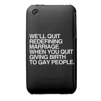 NOUS STOPPERONS REDÉFINIR LE MARIAGE QUAND COQUES Case-Mate iPhone 3