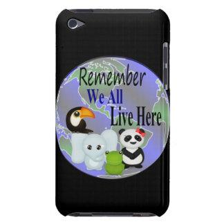 Nous tous vivons ici des animaux du monde coques barely there iPod