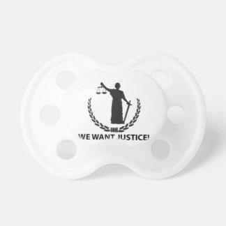 Nous voulons la justice tétine
