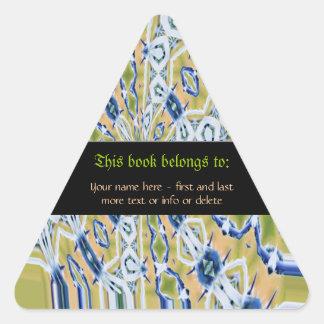 Nouveau Batik Bookplate Personalized Stickers