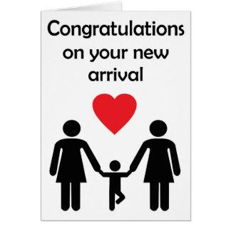 Nouveau bébé de couples lesbiens des sentiments carte