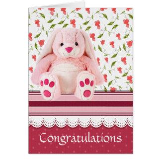 nouveau bébé de félicitations carte de vœux