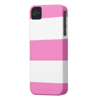 Nouveau cadeau rose et blanc mignon de caisse de B Coque Case-Mate iPhone 4