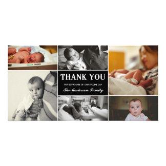 Nouveau carte photo de Merci de bébé