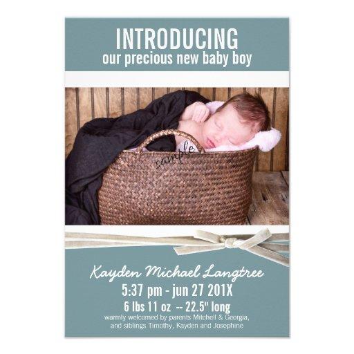 Nouveau faire-part de naissance de bébé de photo