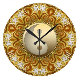 Nouveau Gold  Yin Yang Feng Shui Home Decor Clock