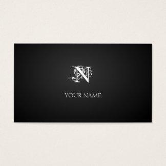 Nouveau graphite business card