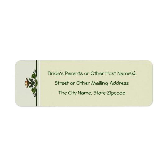 Nouveau Lilies (Return Address Labels)