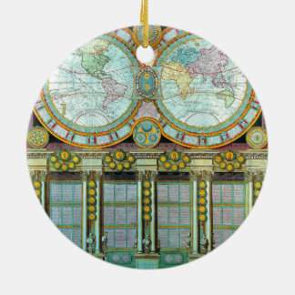 Nouveau Monde -Old-Cartographic-Maps Ceramic Ornament