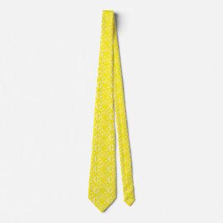 Nouveau - Mushroom Abstract - Sunburst Yellow Tie