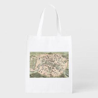 Nouveau Paris Monumental Map Reusable Grocery Bag