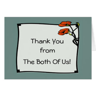 Nouveau Poppy (Thank You Note) Card