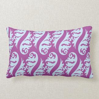 Nouveau purple light blues pillow