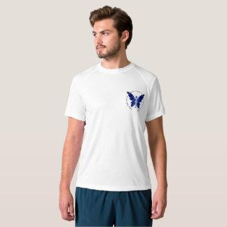 Nouveau T-shirt de l'équilibre des hommes bleus de