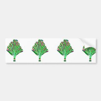 Nouveauté artistique de don de joie de vert autocollant de voiture