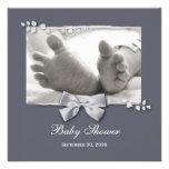 Nouveaux pieds de bébé de baby shower élégant avec faire-part personnalisé