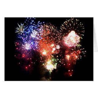 Nouvel an bouquet final de feu d artifice - carte de vœux