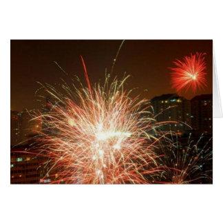 Nouvel an feu d artifice - cartes de vœux