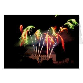 Nouvel an plumets de feu d artifice - cartes de vœux