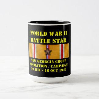 Nouvelle campagne d'opération de groupe de la mug bicolore