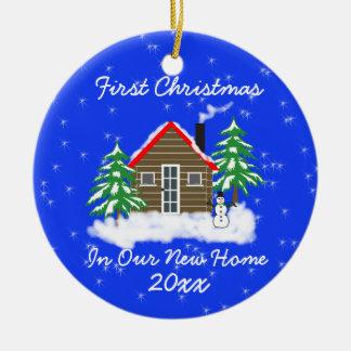 Nouvelle maison de premier Noël Ornement