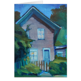 Nouvelle maison heureuse - carte pour le voisin ou