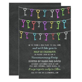 Nouvelle pendaison de crémaillère à la maison carton d'invitation  12,7 cm x 17,78 cm