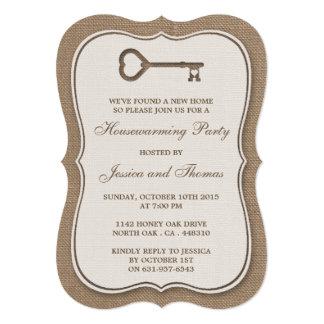 Nouvelle pendaison de crémaillère à la maison de carton d'invitation  12,7 cm x 17,78 cm