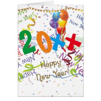 Nouvelles années de célébration 4 carte