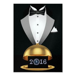 Nouvelles années de partie 2016 carton d'invitation  12,7 cm x 17,78 cm