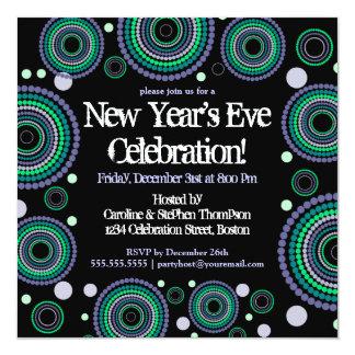 Nouvelles années d'Ève de partie d'invitation Carton D'invitation 13,33 Cm