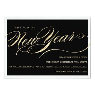 Nouvelles années d'Ève d'invitations de partie Carton D'invitation 12,7 Cm X 17,78 Cm